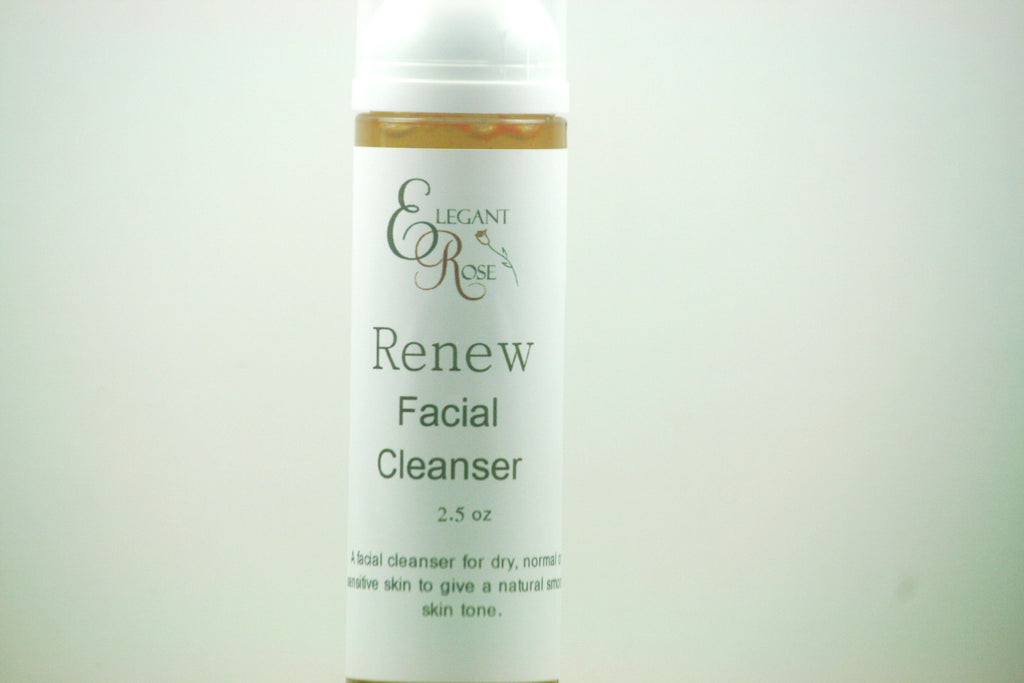 Renew Facial Cleanser - Mild Cleanser for Dry/Sensitive/ Normal Skin - Clear Naturals