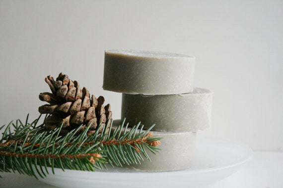 Fresh Pine Handmade Shaving Soap Bar - Essential Oil Shaving Soap - Natural Soap - Clear Naturals