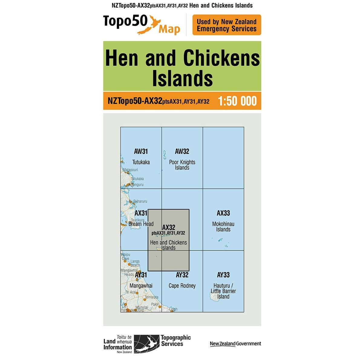 Buy Topo50 AX32 Hen and Chickens Island NZ | NZ's Best Trail Running and Crossfit | Highbeam.co.nz - Get out there and go for a run!