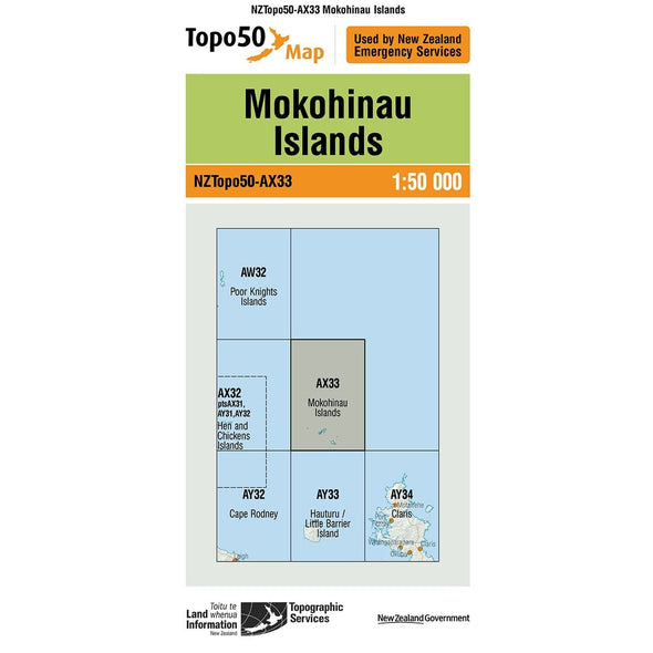 Buy Topo50 AX33 Mokohinau Island NZ | NZ's Best Trail Running and Crossfit | Highbeam.co.nz - Get out there and go for a run!