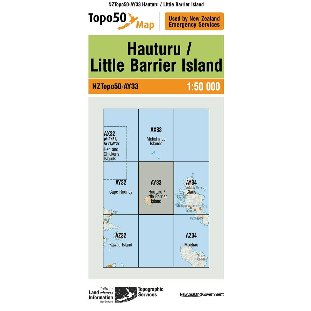 Topo50 AY33 Hauturu / Little Barrier Island