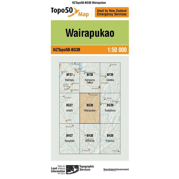 Buy Topo50 BG38 Wairapukao NZ | NZ's Best Trail Running and Crossfit | Highbeam.co.nz - Get out there and go for a run!