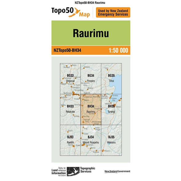 Buy Topo50 BH34 Raurimu NZ | NZ's Best Trail Running and Crossfit | Highbeam.co.nz - Get out there and go for a run!
