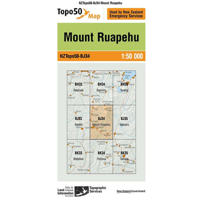 Buy Topo50 BJ34 Mount Ruapehu NZ | NZ's Best Trail Running and Crossfit | Highbeam.co.nz - Get out there and go for a run!
