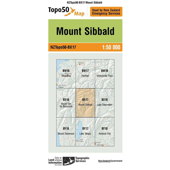 Buy Topo50 BX17 Mount Sibbald NZ | NZ's Best Trail Running and Crossfit | Highbeam.co.nz - Get out there and go for a run!