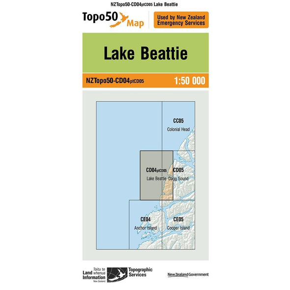 Buy Topo50 CD04 Lake Beattie NZ | NZ's Best Trail Running and Crossfit | Highbeam.co.nz - Get out there and go for a run!