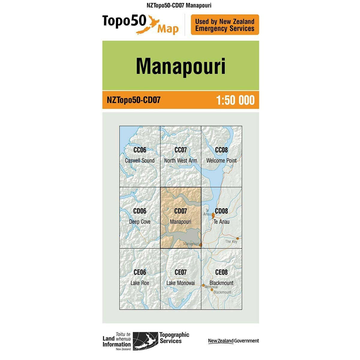Buy Topo50 CD07 Manapouri NZ | NZ's Best Trail Running and Crossfit | Highbeam.co.nz - Get out there and go for a run!