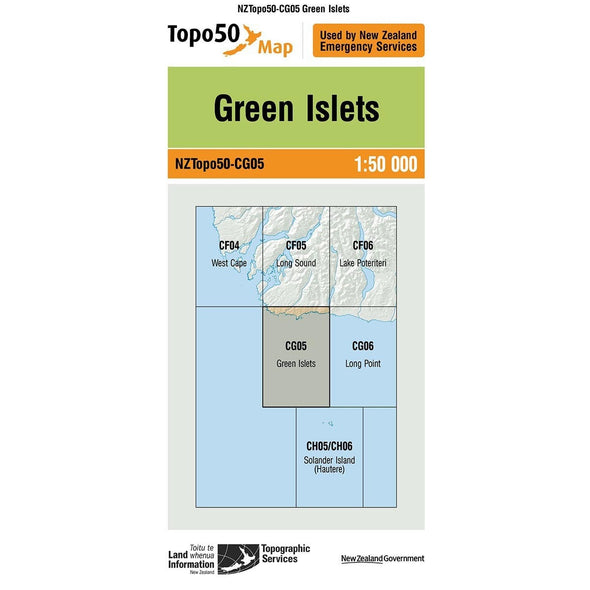 Buy Topo50 CG05 Green Islets NZ | NZ's Best Trail Running and Crossfit | Highbeam.co.nz - Get out there and go for a run!