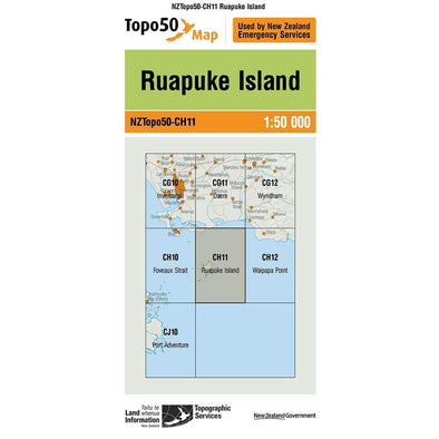Buy Topo50 CH11 Ruapuke Island NZ | NZ's Best Trail Running and Crossfit | Highbeam.co.nz - Get out there and go for a run!