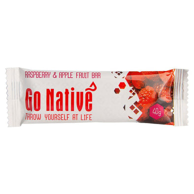 Buy Go Native Raspberry & Apple Fruit Bar NZ | NZ's Best Trail Running and Crossfit | Highbeam.co.nz - Get out there and go for a run!