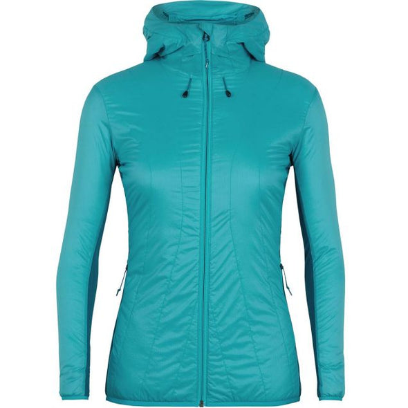 Buy Icebreaker Women's MerinoLOFT Hyperia Lite Hybrid Hooded Jacket Clearance NZ | NZ's Best Trail Running and Crossfit | Highbeam.co.nz - Get out there and go for a run!