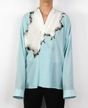 Load image into Gallery viewer, Light Blue Bleached Silk Shirt
