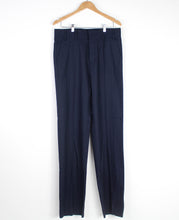 Load image into Gallery viewer, Navy Wool Pleated Trousers