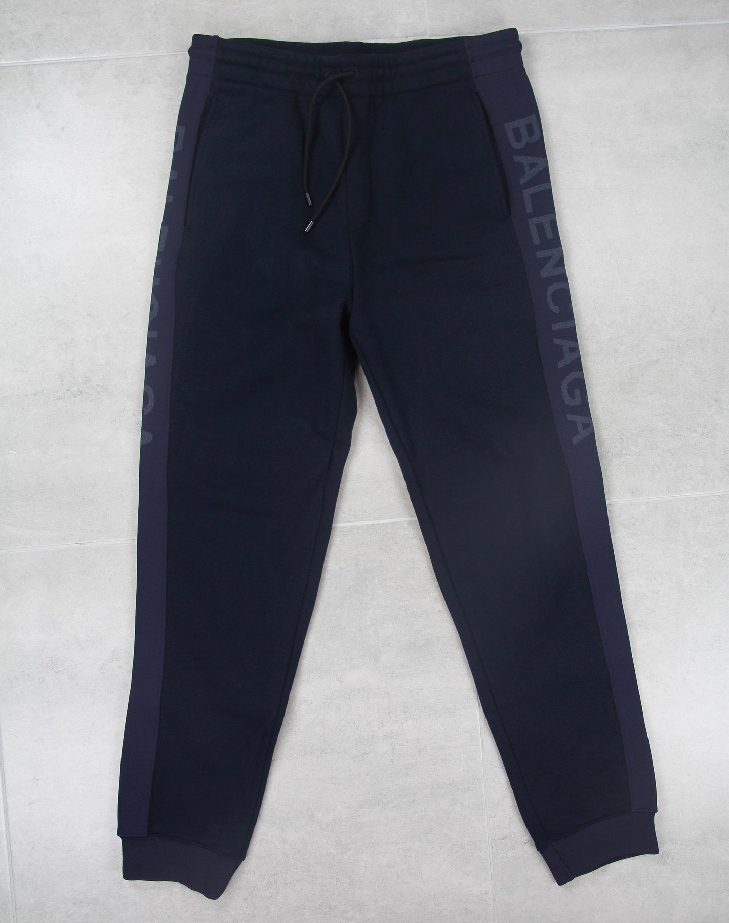 Side Stripe Logo Sweatpants Navy