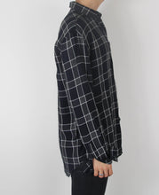 Load image into Gallery viewer, Grey Plaid Flannel