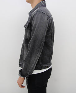 Distressed Light Washed Denim Jacket