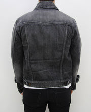 Load image into Gallery viewer, Distressed Light Washed Denim Jacket