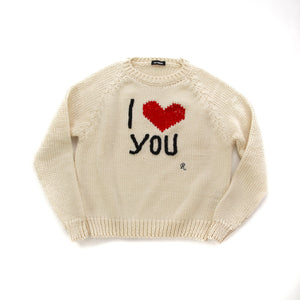 """I Love You"" Knit Sweater"