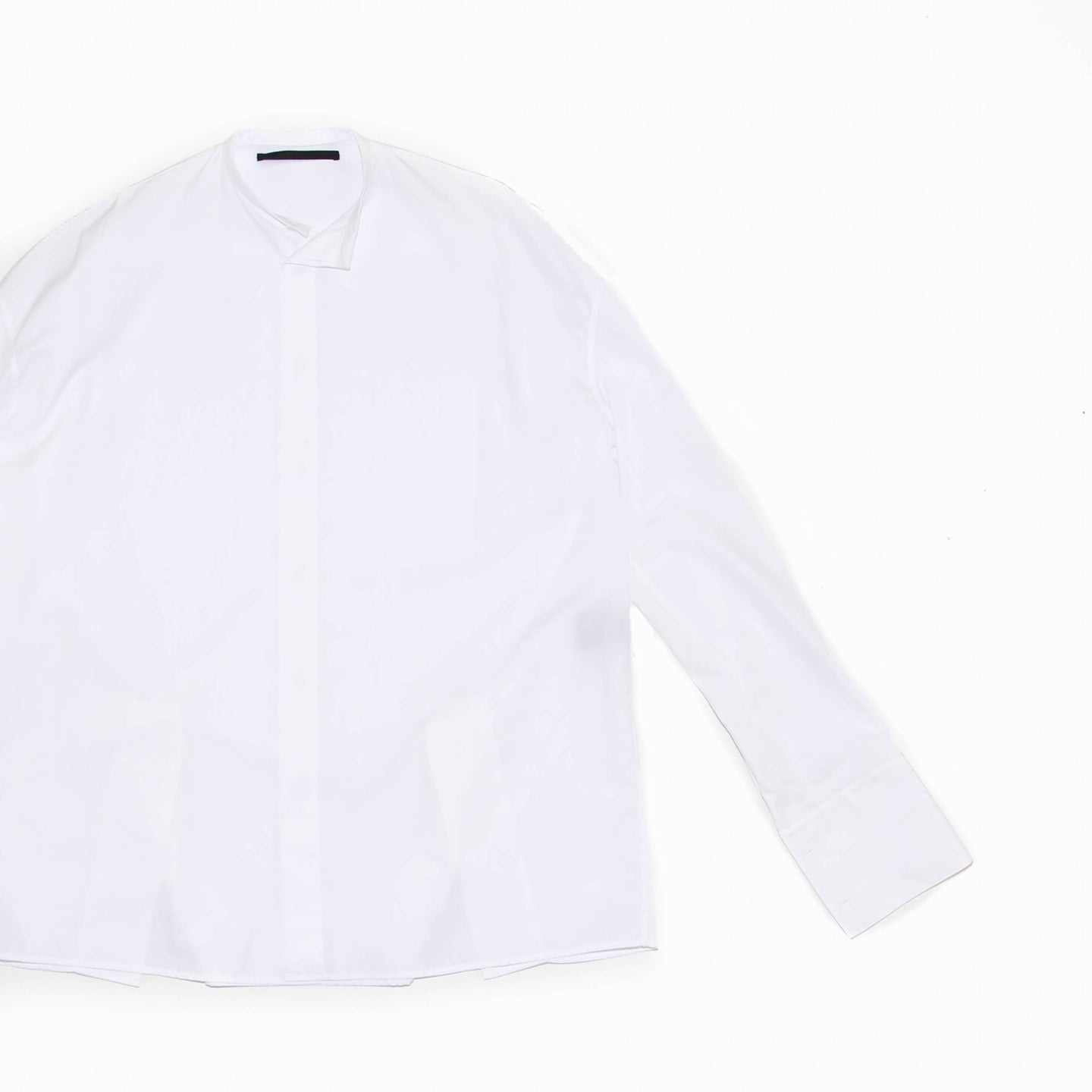 Oversized Mandarin Collar Shirt
