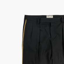 Load image into Gallery viewer, Gold Striped Pleated Trousers