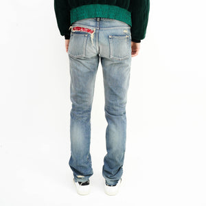 Distressed Bandana Jeans