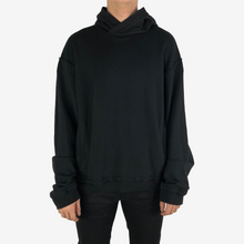 Load image into Gallery viewer, Distressed Black Perth Hoodie