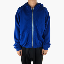 Load image into Gallery viewer, Blue Perth Pocket Zip-Up Hoodie