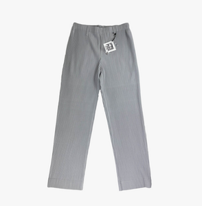 Light-Grey Pleated Regular Fit Trousers