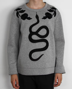 Snake Embroidered Sweatshirt