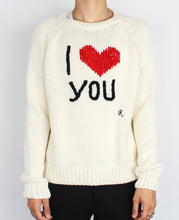 "Load image into Gallery viewer, ""I Love You"" Knit Sweater"