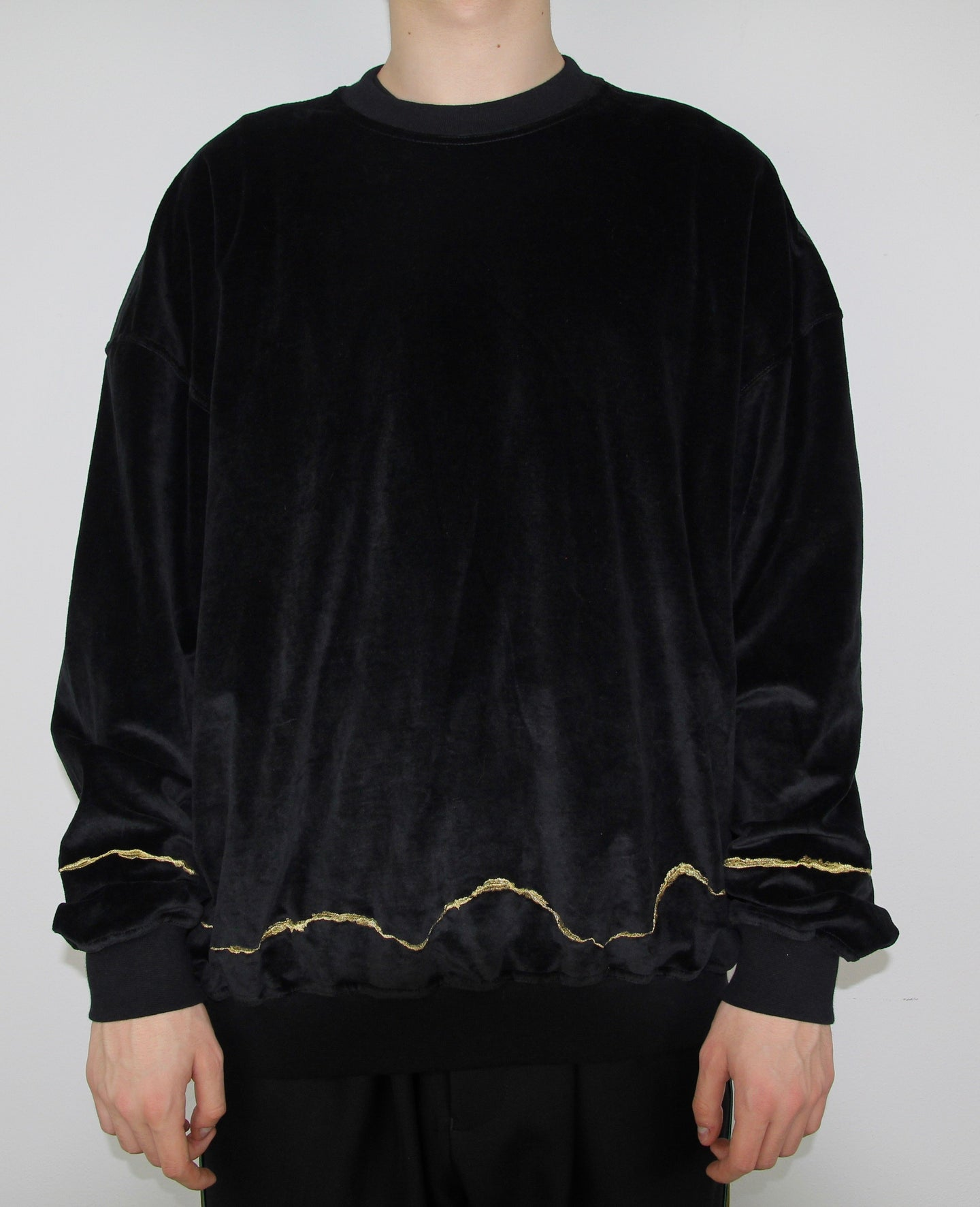 Velour Embroidered Crewneck