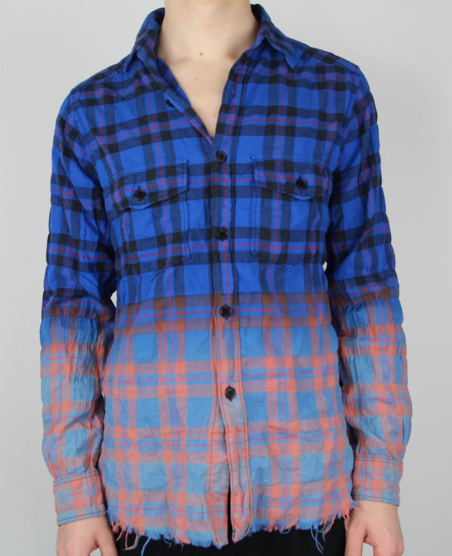 Gradient Distressed Flannel