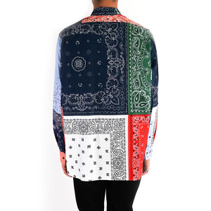 Asymetrical Bandana Patchwork Shirt