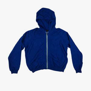 Blue Perth Pocket Zip-Up Hoodie