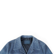 Load image into Gallery viewer, Blue Suede Jacket