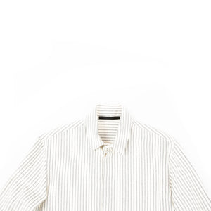 FW19 Beige Striped Wool Shirt