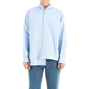 Light Blue Asymmetrical Shirt
