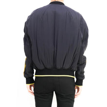 Load image into Gallery viewer, Gold Stripe Bomber Jacket
