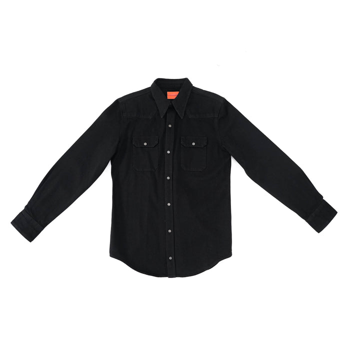Pointed Collar Denim Shirt by Raf Simons