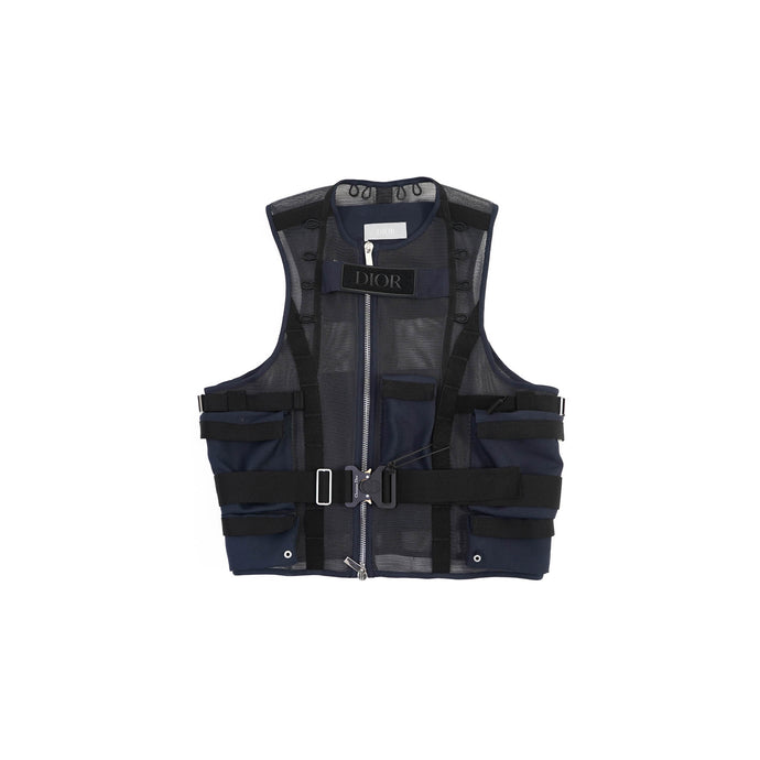 Navy Tactical Vest With Rollercoaster Belt