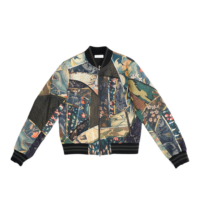 Tapestry Patchwork Bomber Jacket
