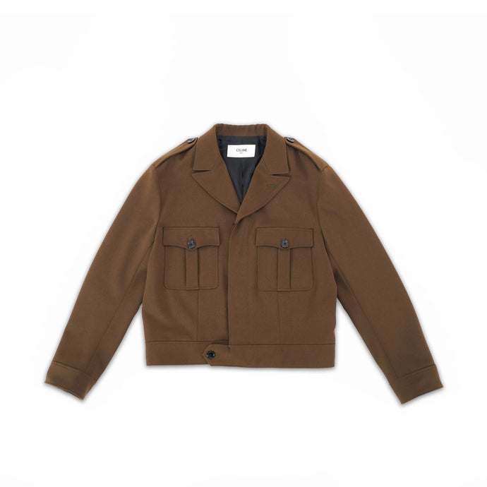 Aviator Garbadine Wool Army Jacket