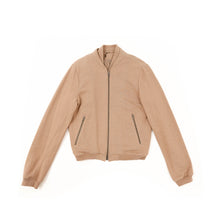 Load image into Gallery viewer, SS11 Beige Cotton Bomber Jacket
