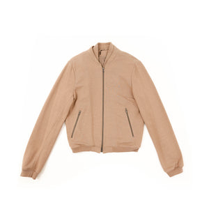 SS11 Beige Cotton Bomber Jacket