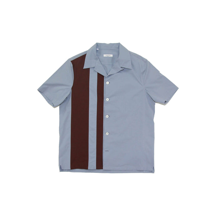Contrast Striped Bowling Shirt