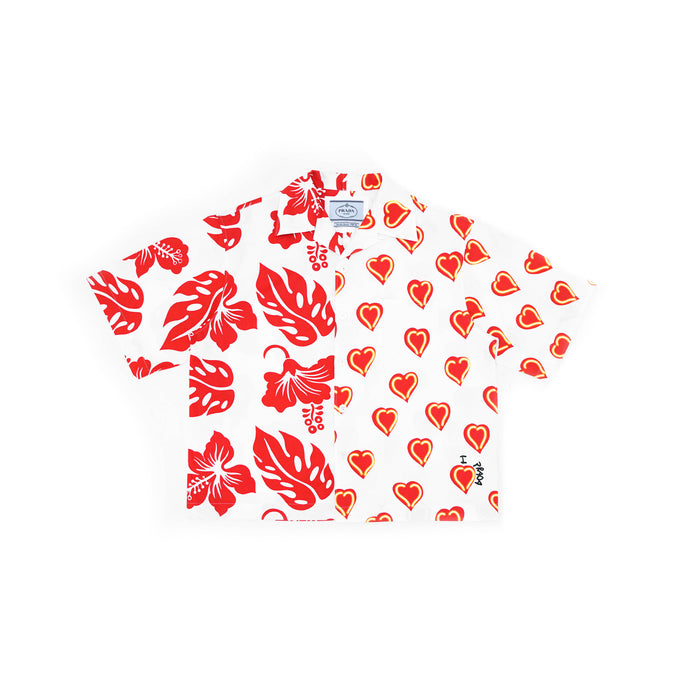 Heart Split Double Match Shirt