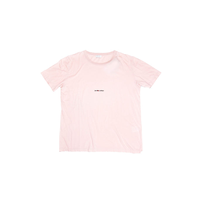 Pink Distressed Archive Logo T-Shirt