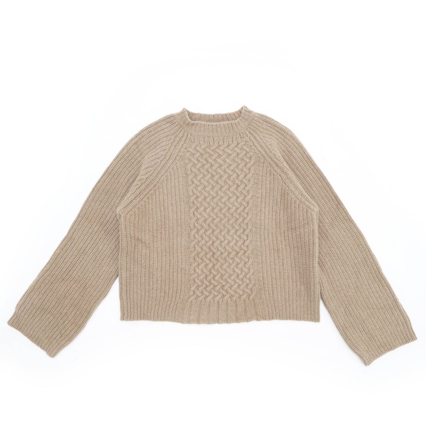 FW18 Cropped Camel Angora Knit