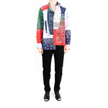Load image into Gallery viewer, Asymetrical Bandana Patchwork Shirt
