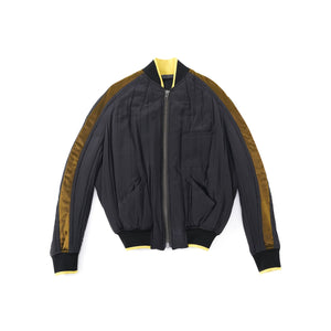Gold Stripe Bomber Jacket